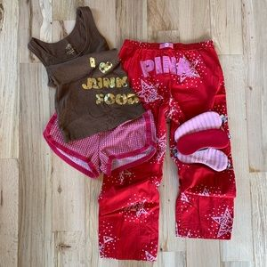 Victoria's Secret PINK Pajamas Top + Pant Set S/M